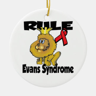 Rule Evans Syndrome Double-Sided Ceramic Round Christmas Ornament