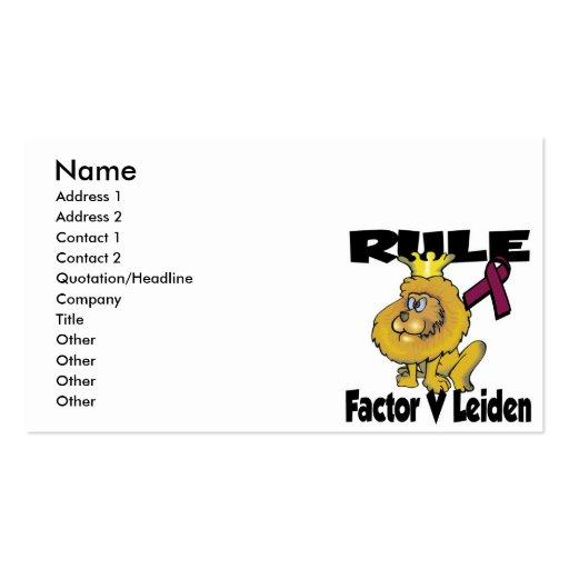 Rule Factor V Leiden Business Card Templates