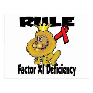 Rule Factor XI Deficiency Post Card