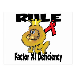 Rule Factor XI Deficiency Postcard