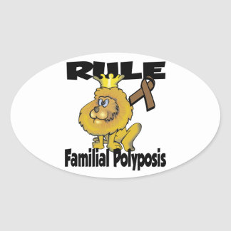 Rule Familial Polyposis Oval Stickers
