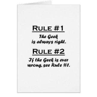 Rule Geek Note Card
