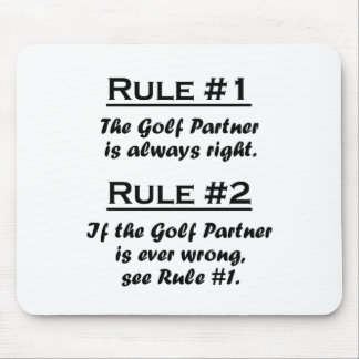 Rule Golf Partner Mouse Pad