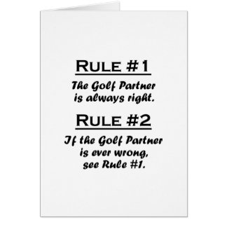 Rule Golf Partner Note Card