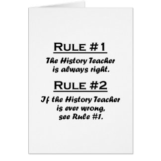 Rule History Teacher Card