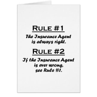 Rule Insurance Agent Card