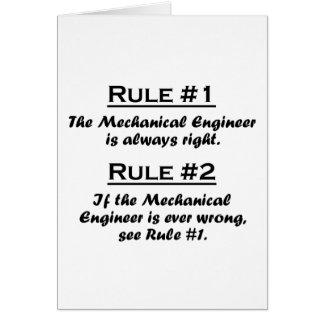 Rule Mechanical Engineer Card
