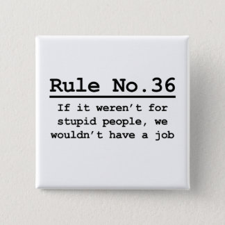 Rule No. 36 15 Cm Square Badge