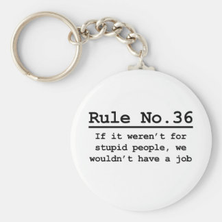 Rule No. 36 Basic Round Button Key Ring