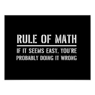 Rule of Math Poster