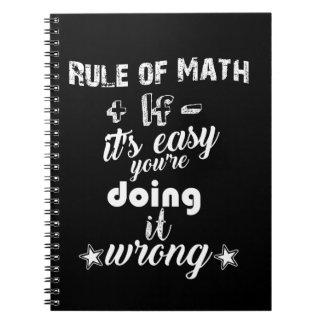 Rule of Math Pun Spiral Notebook