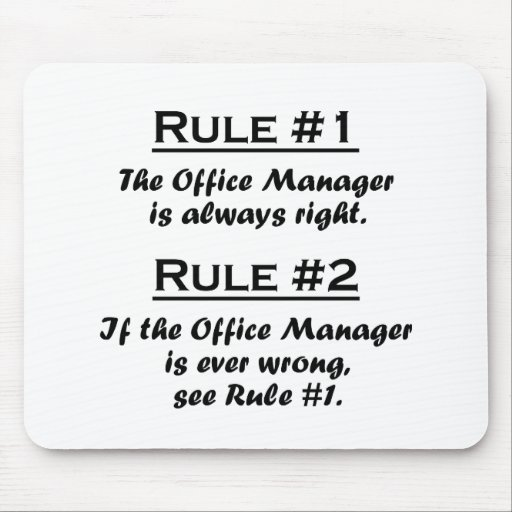 Rule Office Manager Mouse Pad