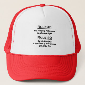 Rule Parking Attendant Trucker Hat