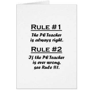 Rule PE Teacher Card