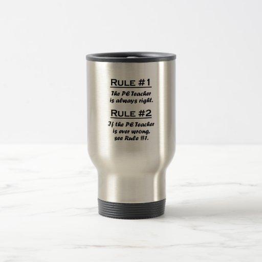 Rule PE Teacher Stainless Steel Travel Mug