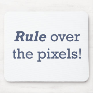 Rule / Pixels Mouse Pad