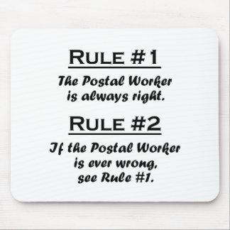 Rule Postal Worker Mouse Mat