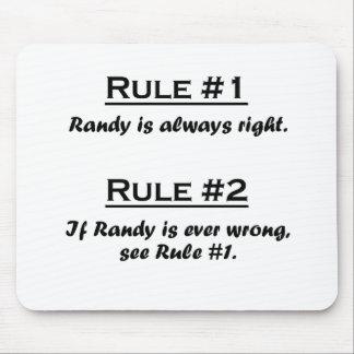 Rule Randy Mouse Pad