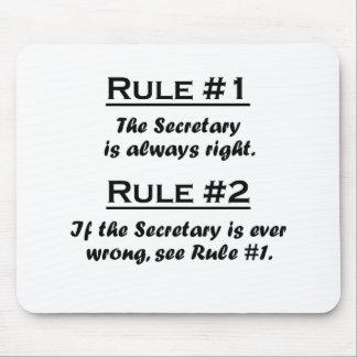 Rule Secretary Mouse Mat