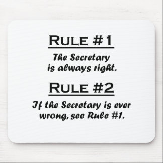 Rule Secretary Mouse Pad