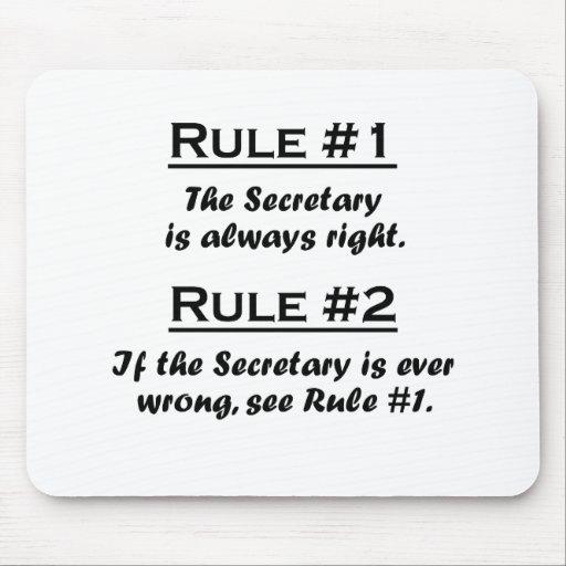 Rule Secretary Mousepads