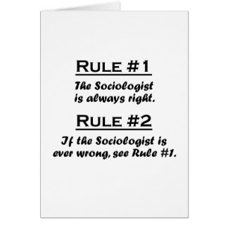 Rule Sociologist Note Card
