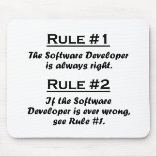 Rule Software Developer Mouse Pad