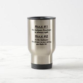 Rule Software Developer Stainless Steel Travel Mug