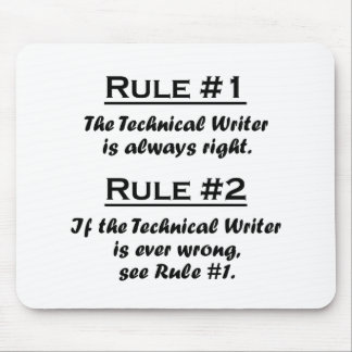 Rule Technical Writer Mouse Pad