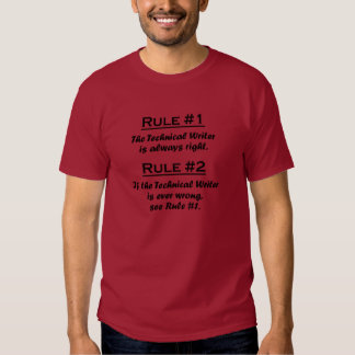 Rule Technical Writer Tshirts