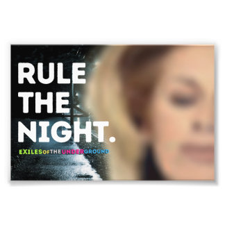 """Rule The Night"" 6x4 Art Photo"