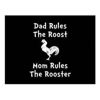 Rule The Rooster Postcard