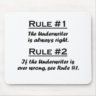 Rule Underwriter Mouse Mat