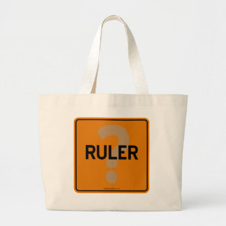 RULER? JUMBO TOTE BAG