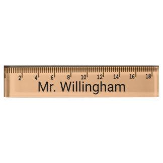 Ruler Teacher's Custom Desk Nameplate