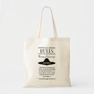 Rules for Being a Gracious Abductee Print Tote Bag