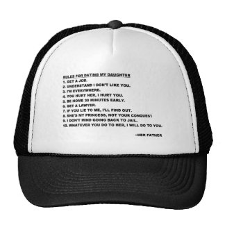 Rules for Dating My Daughter Hat for Dads