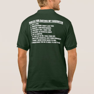 Rules For Dating My Daughter Men s Polo Shirt