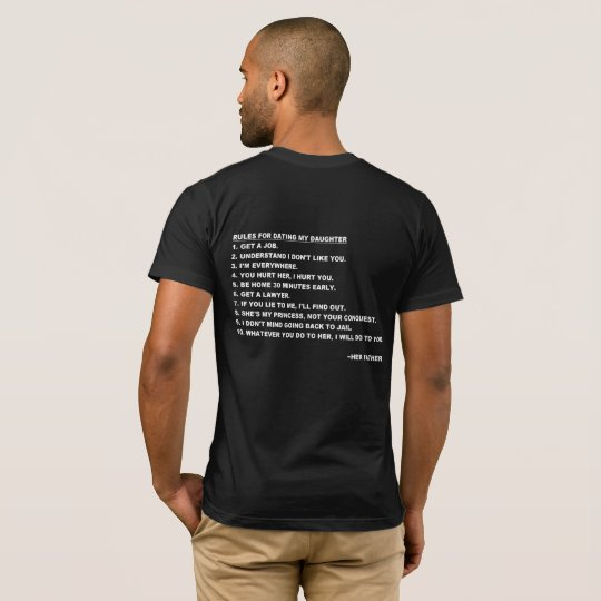Rules for Dating My Daughter T-shirt for Dads