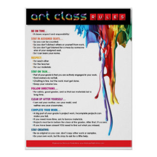 Rules for the Art Classroom Poster