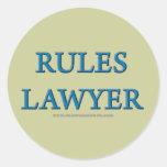 Rules Lawyer Round Sticker