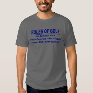 Rules Of Golf Shirts