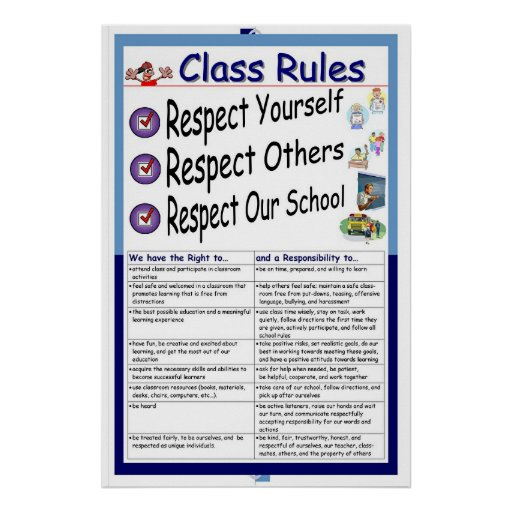 Rules (Respect) Poster