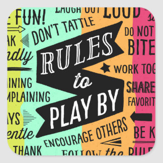 Rules to Play By Sticker