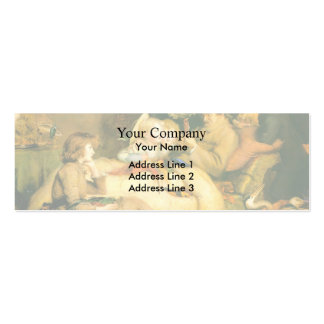 Ruling Passion by John Everett Millais Business Card Templates