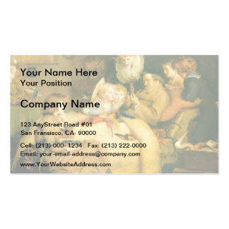 Ruling Passion by John Everett Millais Business Card