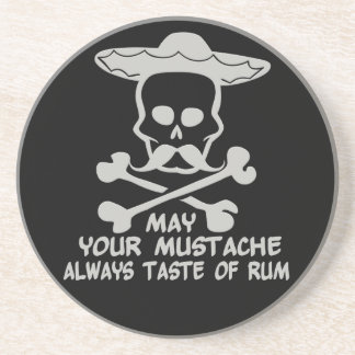 Rum Mustache custom color coaster