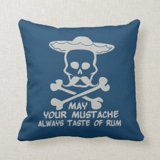 Rum Mustache custom color throw pillow