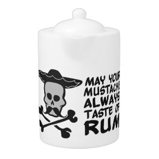 Rum Mustache custom teapot