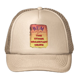 RUM THE OTHER BREAKFAST DRINK TRUCKER HATS